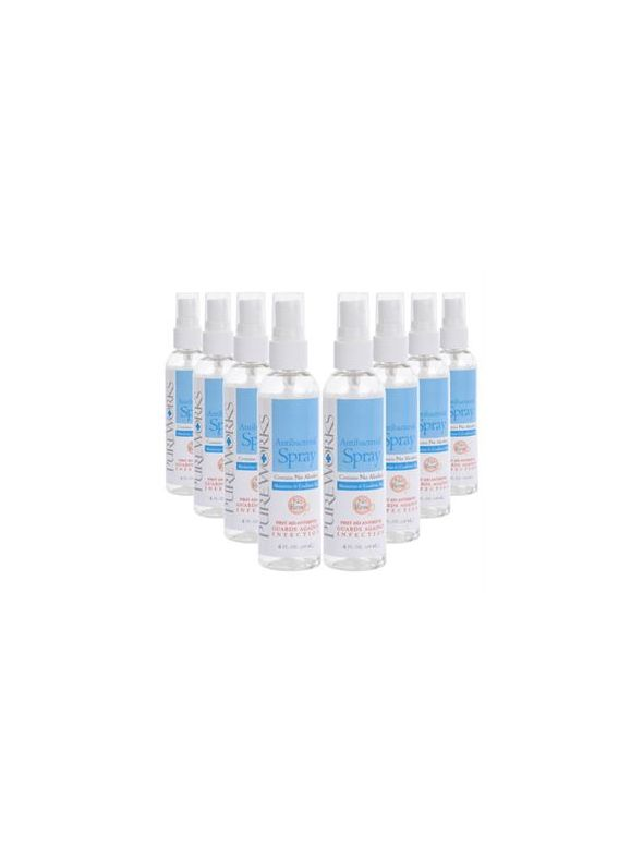 Case of eight 4oz Antibacterial Skin Spray