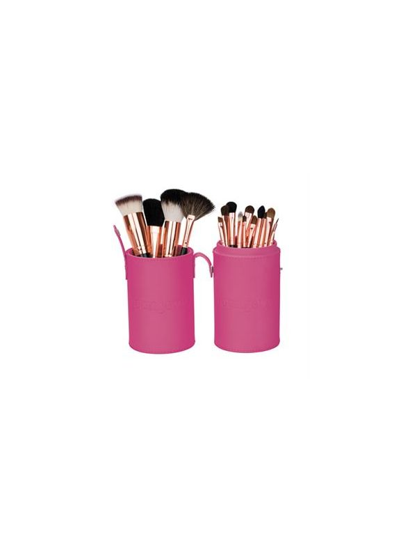 Mineral Makeup Brush Kit - Pink Case