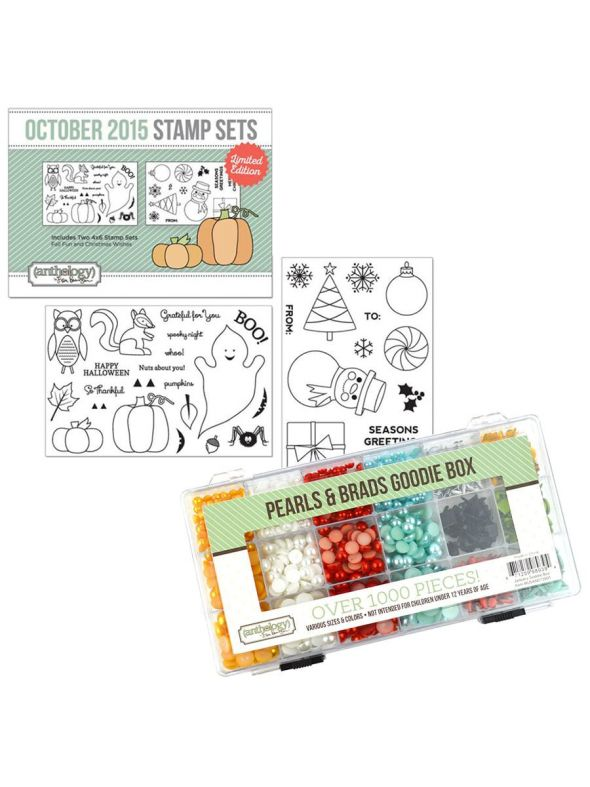 Pearls & Brads Kit October Stamp Bundle