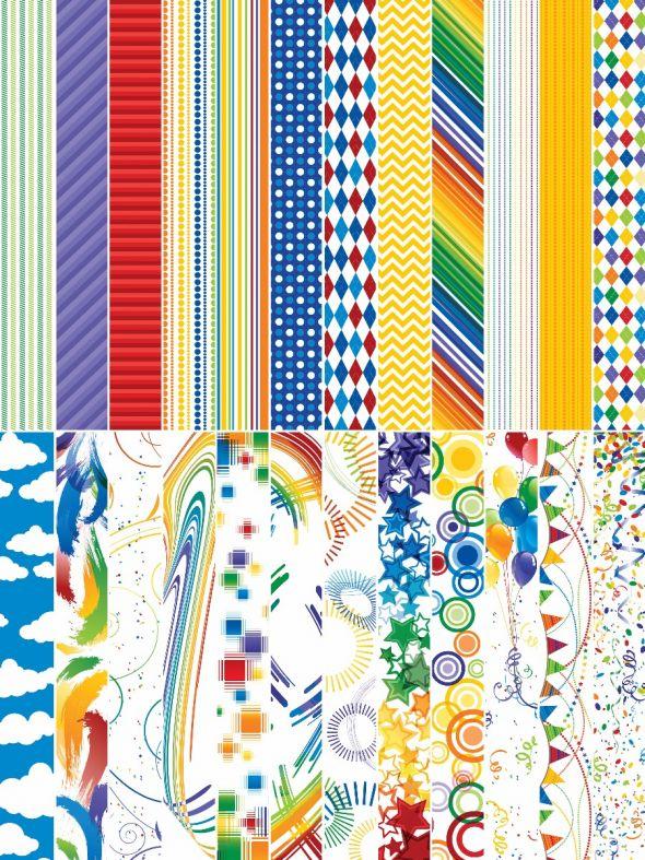 Playful Primary Designer Border Strips