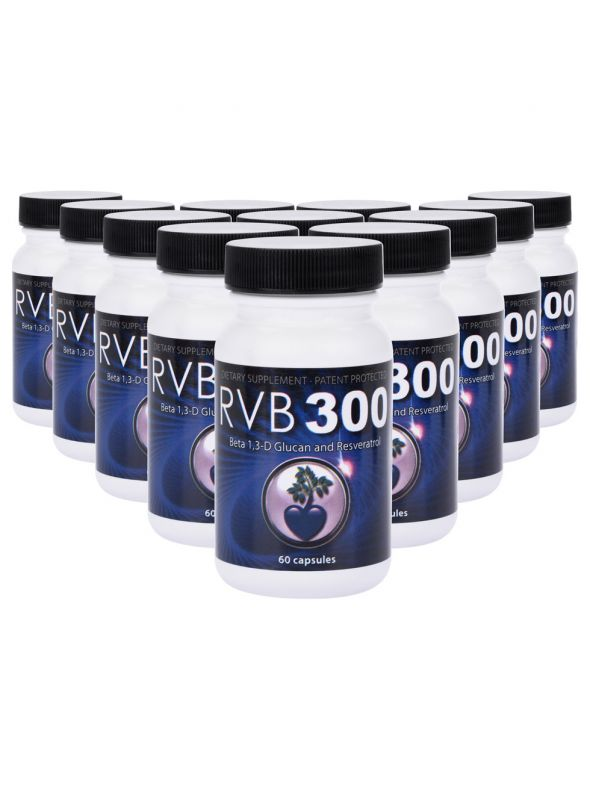 RVB300 (Beta 1,3-D Glucan Resveratrol Mix) - 12 Pack